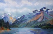 Shores of Maligne Lake (Light in the Valley)