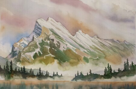 Mt Rundle and Vermilion Lakes